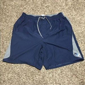 Nike Spell Out Swim Trunks W/ Pockets Mesh Lined